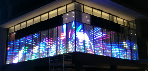 Full Color P3.91 P7.8 P10 Transparent Led Display Screen Glass See Through Led Video Wall