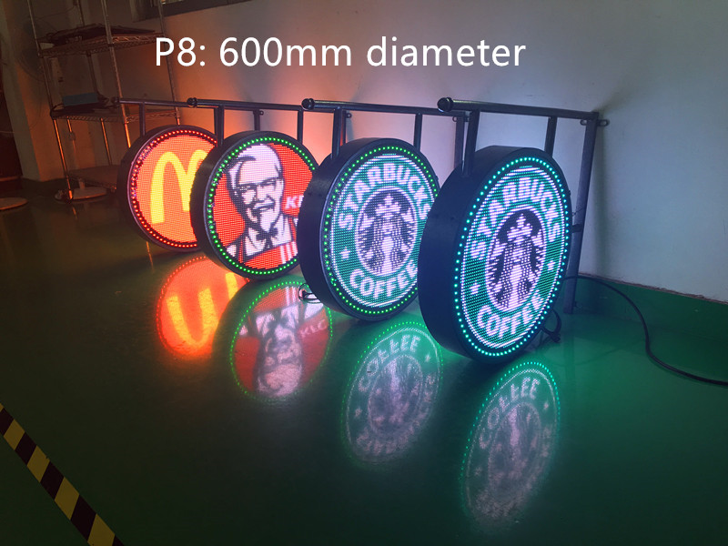 Double sided outdoor round screen led circle display