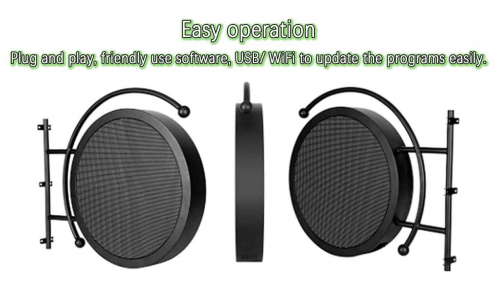 P4.68 P5.9 P8 Outdoor Waterproof Dual-Side Circle LED Display for Retail Advertising