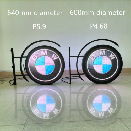 P4.6 P5.9 P8 dual-side outdoor round screen led circle display